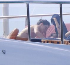 Harry and Kendall on a yacht in st. Barts 12•30•15