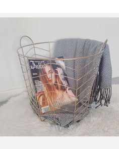A little piece from my lounge room Chevron throw copper basket faux Rental Decorating, Decorating Tips, Decor Interior Design, Interior Decorating, Copper Basket, Kmart Decor, Beach Room, Room Accessories, Bedroom Styles
