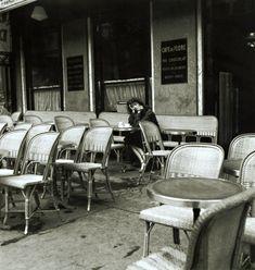 Serge Jacques ...femme Café de Flore 1970