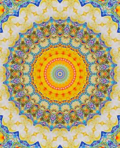 A sunny mandala to bring out our inner radiance...  chichiliki:    For MANDALA GIFS