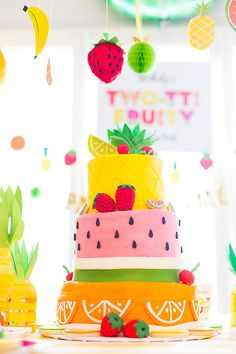 Two-tti Fruity Birthday Party Cake