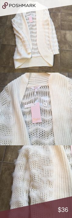 Gorgeous Candies Cardigan. NWT Brand new and gorgeous. Color is off white. Candie's Sweaters Cardigans
