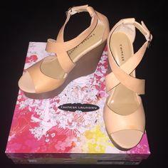 Fabulous Chinese Laundry Wedges Brand new with box!!!! Leather hazelnut  Chinese Laundry Shoes Wedges