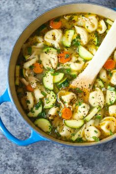 Chicken tortellini soup - this is a staple in our household.
