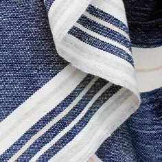 It is cool here today in SF Bay...making me think of Fall.  How beautiful is this indigo 100% alpaca blanket!!  I think it is a must have to replace my old and tired WS navy stripe fringe (ugh) blanket.  Looks like a wonderful company too!