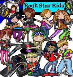 *50% off for the first 48 hours*Rock Star Kids clip art set contains 29 image files, which includes 16 color images and 13 black & white images in png.The set includes:Boy singing into microphone.Girl playing drum set.Girl singing into microphone 1.Girl singing into microphone 2.KeyboardKid dancing with electric guitarLittle DJLittle rock star singingLittle rock star with electric guitar 1Little rock star with electric guitar 2MicrophoneSpeakers.Spotlight1Spotlight2Spotlight3Spotlight4Thi...