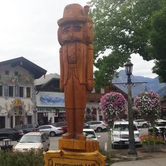 Huge #Nutcracker welcoming visitors to #Leavenworth #Washington. #smalltown #TumwaterCanyon #vacation #getaway #shopping #eatout #Bavarian Village