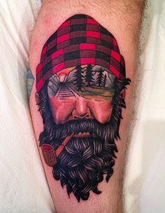 LumberJack made at Spider Murphys tattoo