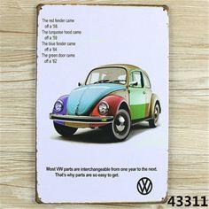 Маленький автомобиль олова признаки старинные дома кафе ресторан плакат металл ремесло художественная роспись 20 * 30 см A1438 купить на AliExpress