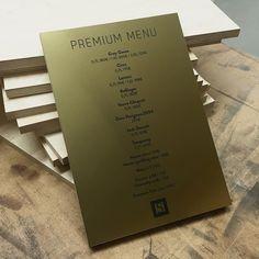 New premium menus for club showroom in helsinki. Good laminate on 18mm plywood.  #lasercutstudio #madeinhelsinki #clubshowroom #showroomhelsinki #menu #laserengraved #laseretching #lasercut #blackandgold #madeinfinland by lasercutstudio
