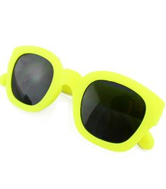 Yellow Rim Black Lenses Sunglasses-SheIn