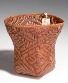 Africa | Basket from Angola | Plant fiber and wood | ca. 1951