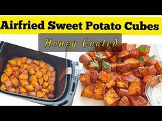 AIR FRIED SWEET POTATO CHUNKS RECIPE.HOW TO COOK AIR FRYER SWEET POTATOES CUBES. Healthy sweetpotato - YouTube
