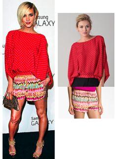 Ashley Simpson's print shorts