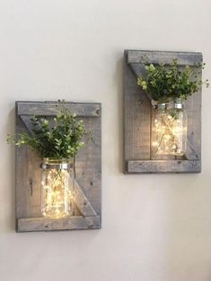 Farmhouse decor fall decor rustic home decor rustic .- Bauernhaus Dekor Herbst Dekor rustikale Wohnkultur rustikale Wand Farmhouse decor fall decor rustic home decor rustic wall Mason Jar Sconce, Diy Casa, Rustic Fall Decor, 242, Rustic Walls, Rustic Wall Sconces, Large Rustic Wall Decor, Decorated Jars, Diy Weihnachten