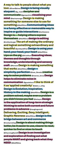 What is design via WolffOlins