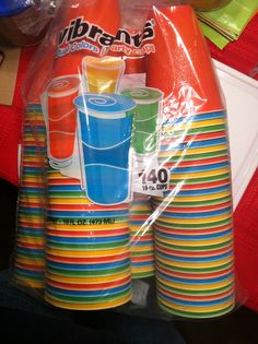 Found multi colored cups at #SamsClub blue green orange and yellow bubble guppies colors for bubble guppies birthday party