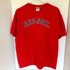 Boston Red Sox Tee Shirt Jersey MLB Baseball Mens Large Gildan #Gildan #BostonRedSox