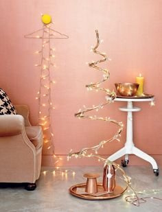 DIY Christmas tree #copper #xmas - Koperen kerst #kerstboom #copper www.101woonideeen.nl