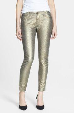 Glimmer! Metallic Denim Leggings.