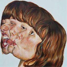 Carl Beazley's Surreal Distorted Portraits