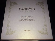 Oro Gold 24K DMAE instant stretching mask #OroGold