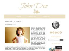 ON Sale 80 Off  Light Brown  Blogger Template by Symufathemes, $5.00