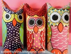 Toilet Paper Tube Owls | Community Post: 22 Cool Kids Crafts You Can Make From Toilet Paper Tubes