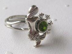 Mermaid  Ring, Small Mermaid Ring, Silver Mermaid Ring. Adjustable Mermaid Ring, Mermaid Jewelry. $17.00, via Etsy.