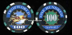 #AtlanticCityCasinoChip of the day is a $100 Tropworld 1st issue you can get here http://www.all-chips.com/ChipDetail.php?ChipID=15415 #CasinoChip #Tropworld