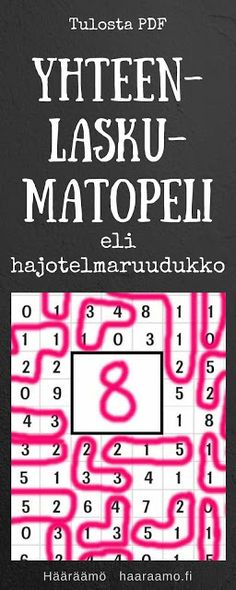 Yhteenlaskumatopeli eli hajotelmaruudukko PDF Teaching Math, Teaching Resources, Maths, Numicon, Kids Mma, Learn Krav Maga, Brain Training, Math For Kids, Addition And Subtraction