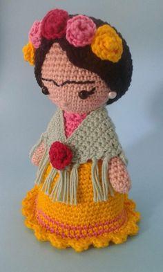 Crochet Fairy, Cute Crochet, Crochet For Kids, Crochet Crafts, Crochet Dolls, Crochet Flowers, Crochet Projects, Sewing Crafts, Crochet Ornament Patterns