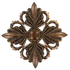 Gold Flower Wall Plaque with Round Center | Shop Hobby Lobby
