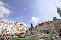 Jan Hus Memorial in Old Town Square, Prague.  Taken Summer 2015