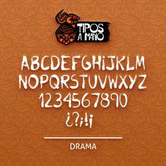 Tipografia Drama, basada en los carteles de los años 70 con contenido dramatico o ligadas a muerte.