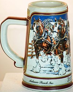 German Beer Mug, Personalized Beer Mugs, Beer Company, Beer Stein, Clydesdale, Brewery, Bud, Tapas, Antique Cars