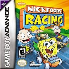 Nicktoons Racing Nintendo Game Boy Advance 2002 3 levels difficulty