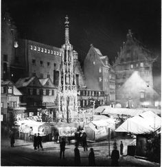 Christmas Market 1938 in Nûrnberg Rothenburg Ob Der Tauber, Old City, Storyboard, Czech Republic, Hungary, Poland, 19th Century, Germany, Europe
