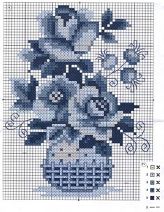 Gallery.ru / Фото #11 - 200 - markisa81 Cross Stitching, Cross Stitch Embroidery, Hand Embroidery, Cross Stitch Heart, Cross Stitch Flowers, Delft, Cross Stitch Designs, Cross Stitch Patterns, Needlework