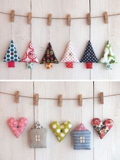 Christmas Decorations Sewing, Christmas Bunting, Christmas Sewing, Christmas Projects, Christmas Crafts, Christmas Ornaments, Christmas Makes, Felt Christmas, Merry Christmas