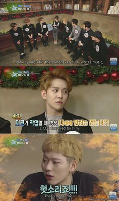 the sad yet satisfied looks on kyung's and the disapprove looks on zico's