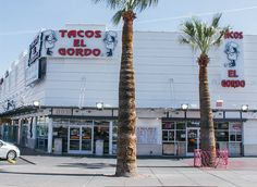 Las Vegas Blvd Tacos El Gordo - Open 9am -5am, GREAT reviews for these cheap but fresh street tacos. Reviewers and pictures often show lines out the door but they all say it was worth it in the end. And did I mention cheap?