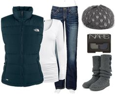 """Seriously. I can't wait til winter for north face!"" by chelseawate on Polyvore"