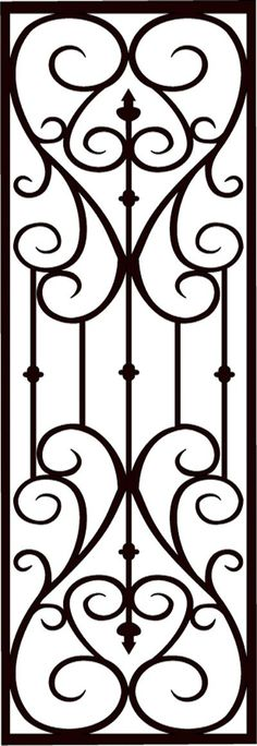 Faux Wrought Iron Screen: