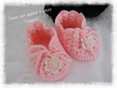 Scarpine neonata ad uncinetto by https://www.facebook.com/CreareconpassioneeamoreCreazioni/ … #crochet #handmade #shoesbaby #bebè #lemaddine
