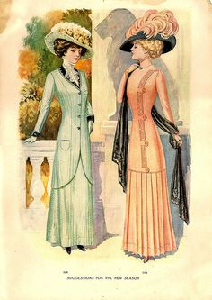 1912 Standard Fashion Book, I should think these are promenade ensembles, but possibly walking suits. JC