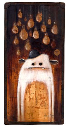 Artwork: Johan Potma, painting, acrylics, Illustration, monster, monsters, berlin, freaks, misfits, zozoville, the cheese mountain tragedy, www.johanpotma.com, character, character design