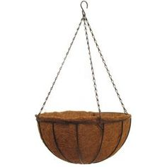 Pride Garden Products 12 in. Traditional Coco Basket-99031 - The Home Depot FOUR PLEASE