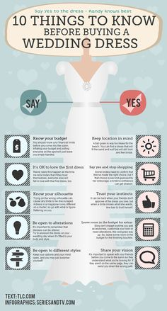 For Heather: Infographic: 10 Things to know before buying a wedding dress