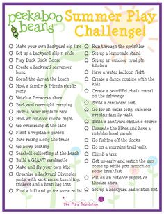 Peekaboo Beans Blog: You're invited... Summer Play Challenge!